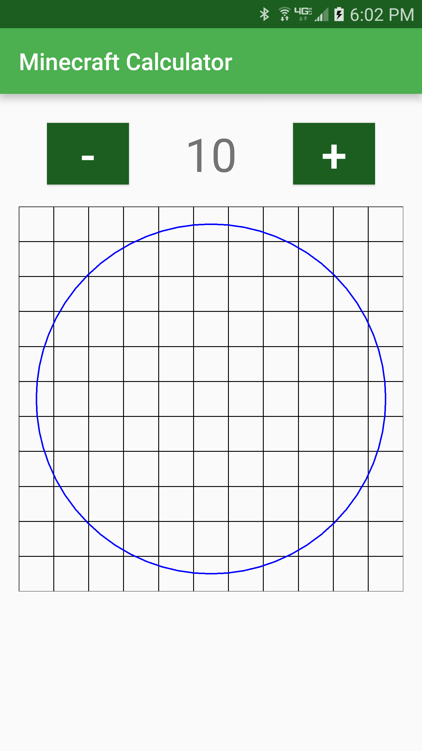 Minecraft Calc circle helper